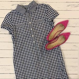 Vineyard Vines | Navy & White Gingham Shirt Dress